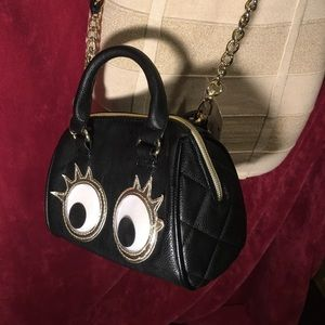 Betsy Johnson mini bag with eye balls